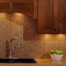 copper kitchen backsplash tiles cracked copper tile backsplashes tile the home depot