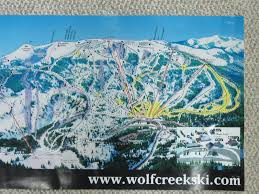 Colorado Ski Areas Map by Wolf Creek Ski Area Map Poster Wolf Creek Ski Area