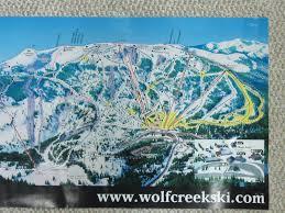 Colorado Ski Area Map by Wolf Creek Ski Area Map Poster Wolf Creek Ski Area