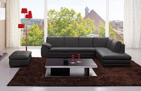 white italian leather ottoman sectional in full grey or white top grain italian leather jm625