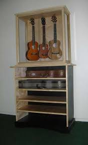 Guitar Storage Cabinet Ukulele Display Case