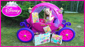 frozen power wheels sleigh disney princess carriage ride on power wheels surprise toys hunt w