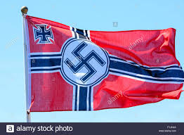 Flag Im Weltkrieg Zwei Deutsche Armee Wehrmacht Hakenkreuz Flagge Im