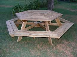 Picnic Table Plans Free Octagon by Tbib Ideas Here Octagon Picnic Table Plans With Umbrella Hole