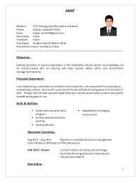 hospitality resume template 2 cv resume hospitality pic bar staff cv template 1 jobsxs