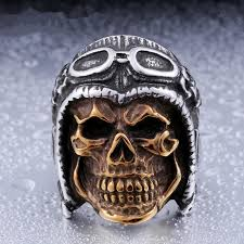 classic skeleton ring holder images Doreenbeads japanese samurai sword ring men stainless steel jpg