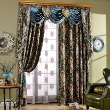 Vintage Green Curtains Emerald Green Flower Thermal Waverly Vintage Valance Curtains