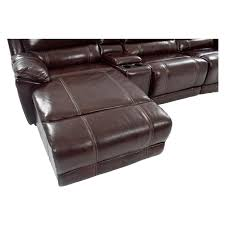 Motion Leather Sofa Excellent Theodore Brown Power Motion Leather Sofa Wleft Chaise El