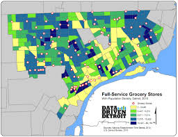 Metro Detroit Map by Data Driven Detroit Debunks Food Desert Myth Highlights Food