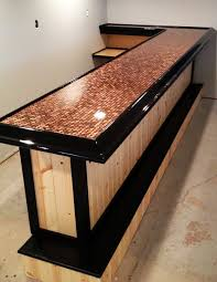How To Build A Concrete Bar Top Best 25 Penny Countertop Ideas On Pinterest Penny Table Penny