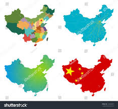 China Map Outline by Vector China Map Set Stock Vector 120492487 Shutterstock