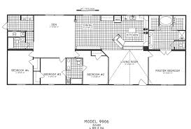 4 Bedroom 2 Bath Mobile Homes 4 Bedroom Floor Plan C 9906 Hawks Homes Manufactured