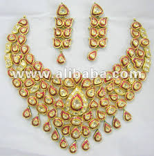 gold jewellery necklace sets images Polki meena necklace sets 22k gold kundan polki necklace set polki jpg