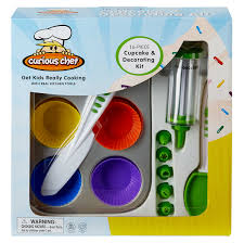 kitchen knives for kids 16 piece cupcake and decorating kit kids cupcake kit curious chef