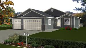 Size Of Three Car Garage House Plans With 3 Car Attached Garage By E Designs Floor Plans