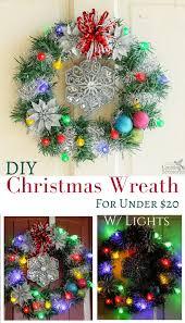 how to make christmas to make an easy diy lighted christmas wreath for 20