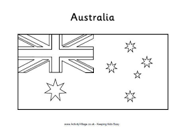 blank flag coloring page australia flag colouring page