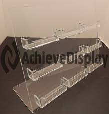 multi pocket countertop business card display holder acrylic sign