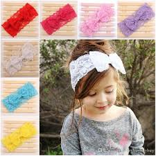 baby girl hair bands baby kids lace bowknot headbands bow headwrap lace bow