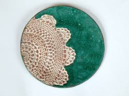 personalized ceramic platter lace texture plate wedding tableware ceramic plate floral