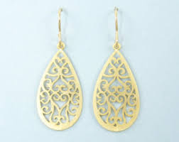 drop earrings gold gold drop earrings etsy