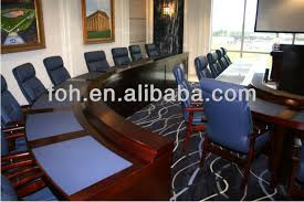 Quality Conference Tables Guangzhou High Quality Big Wooden V Shaped Meeting Table Fohau