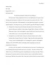 cover letter example of a analysis essay example of a literary