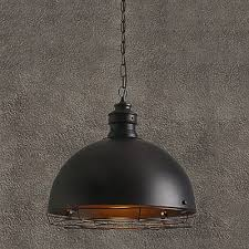 black dome pendant light industrial pendant lighting in cage style with black dome shade