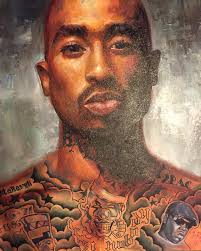 paint for pac 18 dope tupac art pieces radio now 92 1 3 a shot of the complete paintingpart of