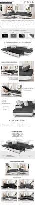 hauteur assise canapé futura canapé d angle gauche convertible 4 places tissu gris et