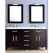 Double Vanity Basins Amazon Com 72 Inch Espresso Double Basin Sink Bathroom Vanity Set