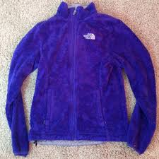 the north face rocking purple fake fur north face jacket from