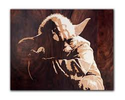 original marquetry wooden yoda master of star wars home decor