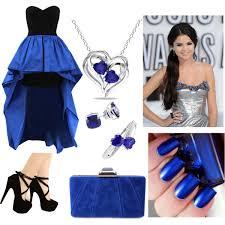 royal blue dress polyvore