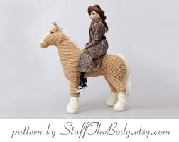 Equine Home Decor by Abby The Horse Amigurumi Pattern Pony Crochet Pattern Home