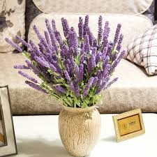 12 heads artificial lavender flower wedding party home decoration