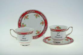 40th anniversary plates anniversary plates cup and saucer sets kh pottery affordable