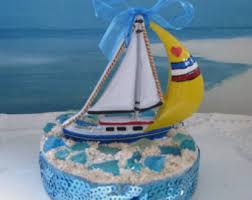 sailboat cake topper sailboat cake topper etsy