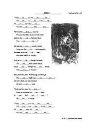 jabberwocky poem by drvan teachers pay teachers