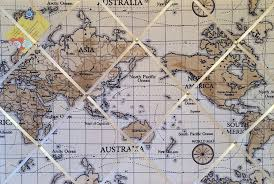 Pin World Map by Large 60x40cm Fryetts World Atlas Map Nautical Vintage Hand