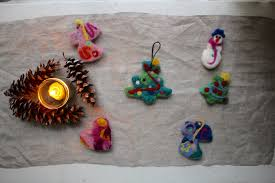 felted ornaments homesong