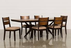 spencer 7 piece rectangle dining set w wood chairs living spaces