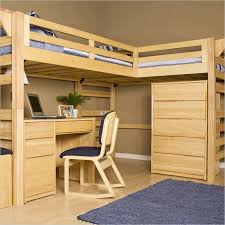 Wood Twin Loft Bed Plans by Bed With Desk Under Plans Queen Loft Bed With Desk Underneath