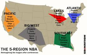 map of nba teams this will fix conference imbalance and the nba schedule