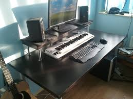Diy Music Workstation Desk Cheapest Home Studio Desk Ever Ikea Hackers Ikea Hackers