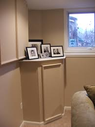 idea to hide the sump pump and electrical panel our basements