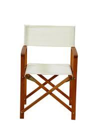 chaise r alisateur martin chaise réalisateur blanc naturel h 84 x larg 54 x p 51 cm