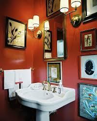 bathroom extraordinary orange bathroom design ideas with wall decor