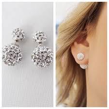 two sided earrings sided earring savijewelry
