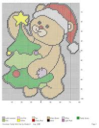 christmas teddy with a tree by wanda k canva pinterest